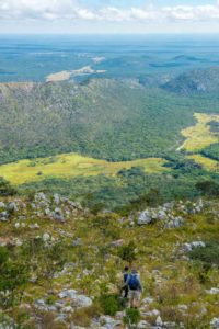 Hiking the vast Lavushi Manda expanse