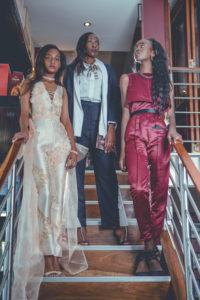Models (L - R): Chiedza Muodawafwa, Khondwani Zulu, Chamwanza Phiri